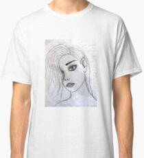 face portrait drawing grey 03/22/17 Classic T-Shirt