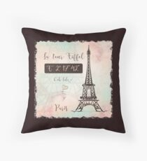 Coordenadas Paris Throw Pillow