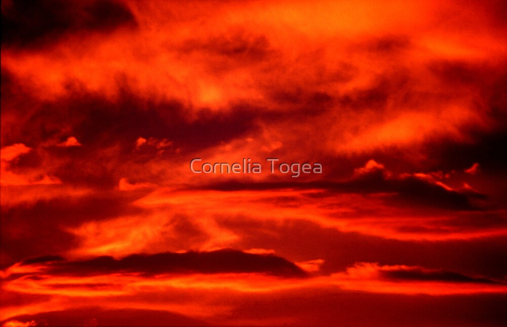 clouds in flame by Cornelia Togea