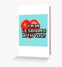 "The ""L"" Word Greeting Card"