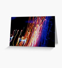 City Light, City Night - Abstract Greeting Card