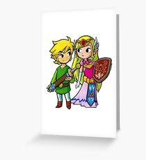 Link and Zelda Greeting Card