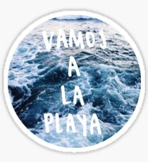 vamos a la playa Sticker