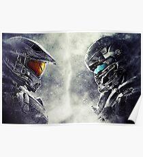 Halo Master Chief Vs Agent Locke  Poster