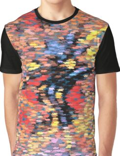 Pastel Autumn Leaves - Butterfly Abstract Pattern Graphic T-Shirt