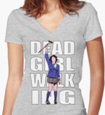 Dead Girl Walking Women's Fitted V-Neck T-Shirt