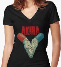 AKIRA V Women's Fitted V-Neck T-Shirt