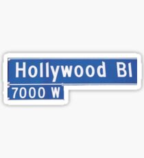 Hollywood Rd Sign Sticker