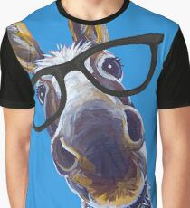 Funny Donkey art, Smart Donkey with glasses Graphic T-Shirt