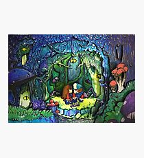 Gravity Falls Dipper and Mabel forest Photographic Print