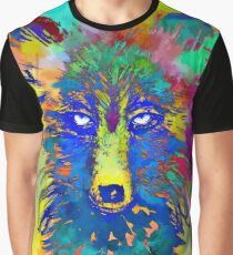 Colorful Wolf Painting Graphic T-Shirt