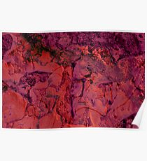 Abstract Ice Red Poster