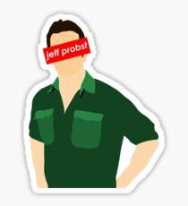 Jeff Probst Supreme Graphic Sticker