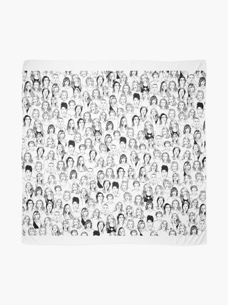Alternate view of Notable Women of 90s Alternative Rock Scarf