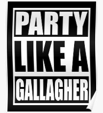 Party like a Gallagher! Poster