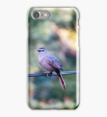 Finch on power line iPhone Case/Skin