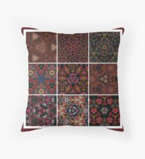 Patchwork Earthy Throw Pillow