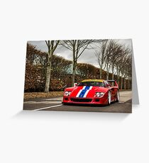 Ferrari F40 LM Greeting Card