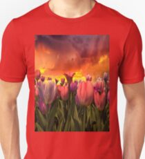 Pastel Tulips In Spring Time  T-Shirt