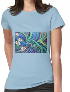 Bird Symphony With Frangipani Womens Fitted T-Shirt