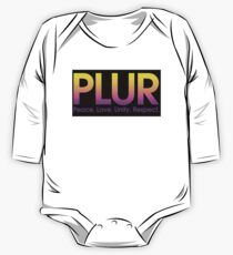 PLUR (Peace. Love. Unity. Respect.) One Piece - Long Sleeve