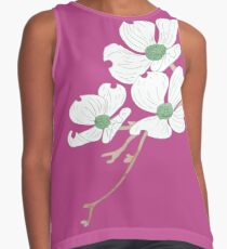 Dogwood Blooms Contrast Tank