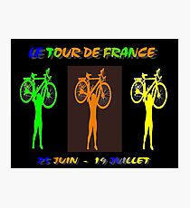 LE TOUR DE FRANCE: Abstract Bike Racing Print Photographic Print