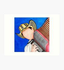 Red Accordion Art Print