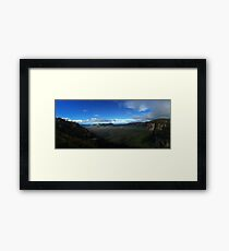 A Blue Mountain View Landscape Framed Print