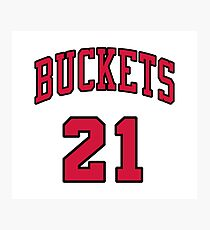 21 Buckets b Photographic Print
