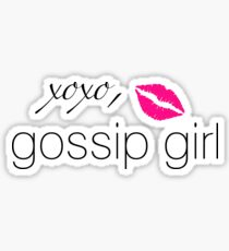 """Xoxo, Gossip Girl"" Graphic Sticker"
