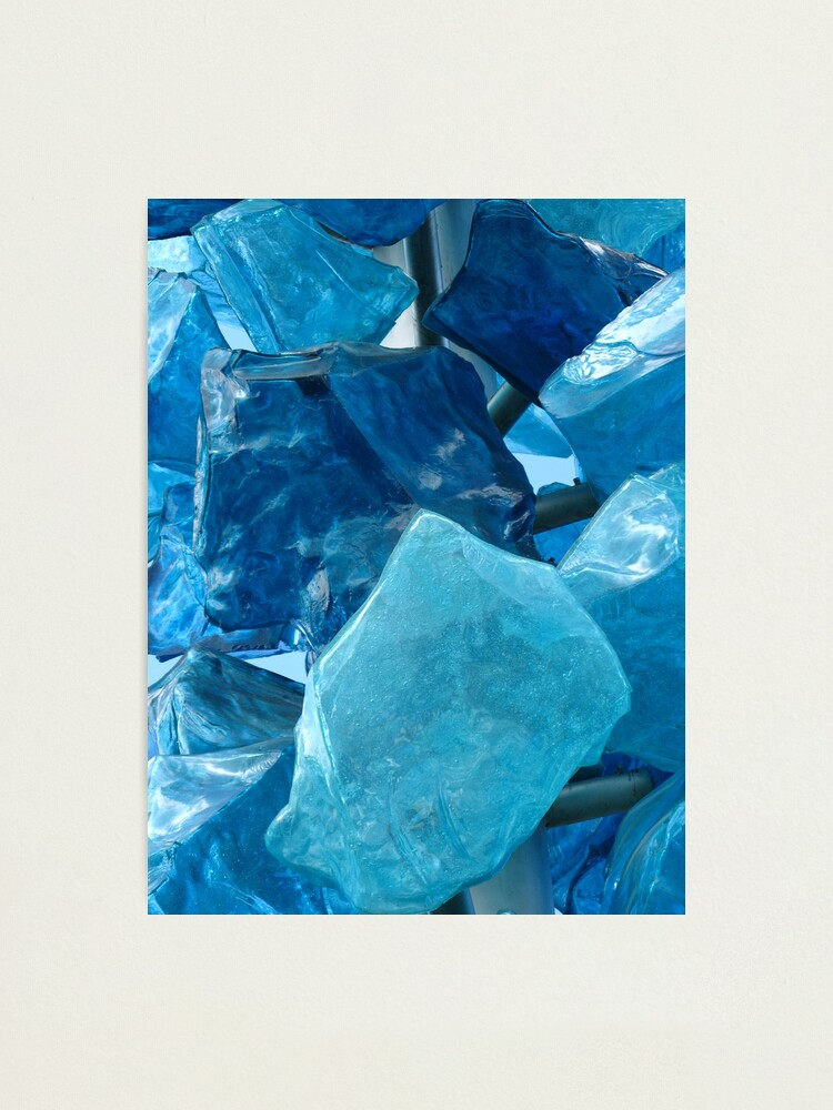 Alternate view of Blue Glass #1 Photographic Print