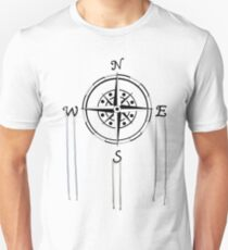 Watercolor Naval Compass Unisex T-Shirt