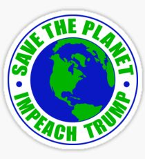 Save The Planet Impeach Trump Sticker
