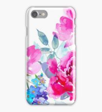 Watercolor Peony and Wildflowers iPhone Case/Skin