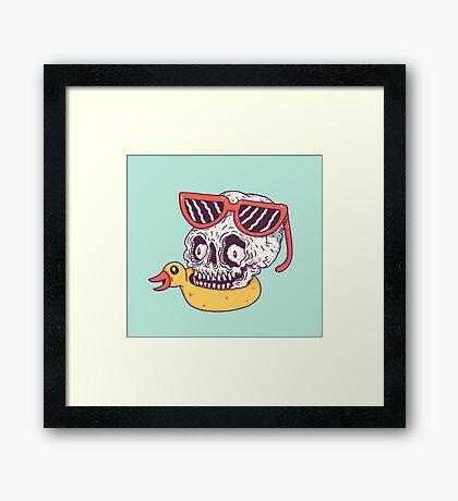 Beach Skull Framed Print