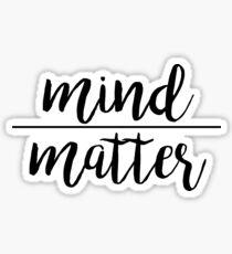 Pegatina Mente sobre materia