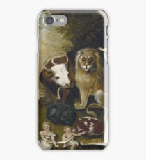 Edward Hicks - The Peaceable Kingdom 1833 iPhone Case/Skin