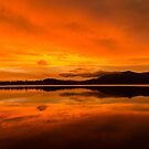 Wyaralong sunset by Brent Randall