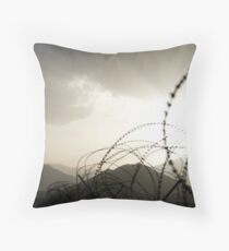 Wired Sunset Throw Pillow