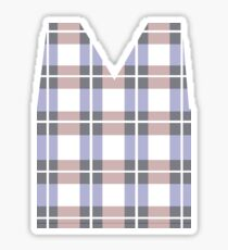 Argyle Sweater Vest Sticker