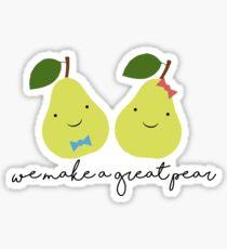 We Make a Great Pear (Boy x Girl) Sticker