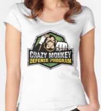 Crazy Monkey Defense Women's Fitted Scoop T-Shirt