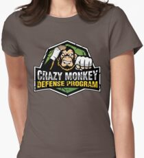 Crazy Monkey Defense Womens Fitted T-Shirt