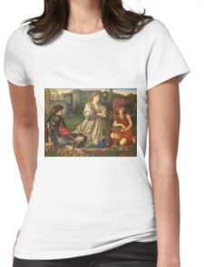 Edward Burne-Jones - Song Of Love (Chant Damour), Ca 1868-73 Womens Fitted T-Shirt