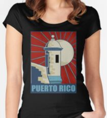 puerto rico retro Women's Fitted Scoop T-Shirt