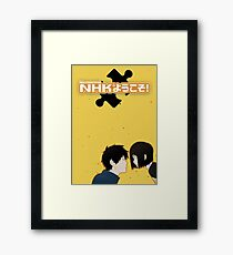 Welcome to the NHK - Simplistic Framed Print