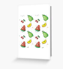 Funny fruit watercolor hand drawn Greeting Card