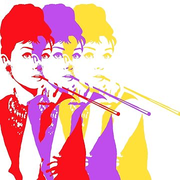 Audrey Hepburn Pop Art by ryanrydalch