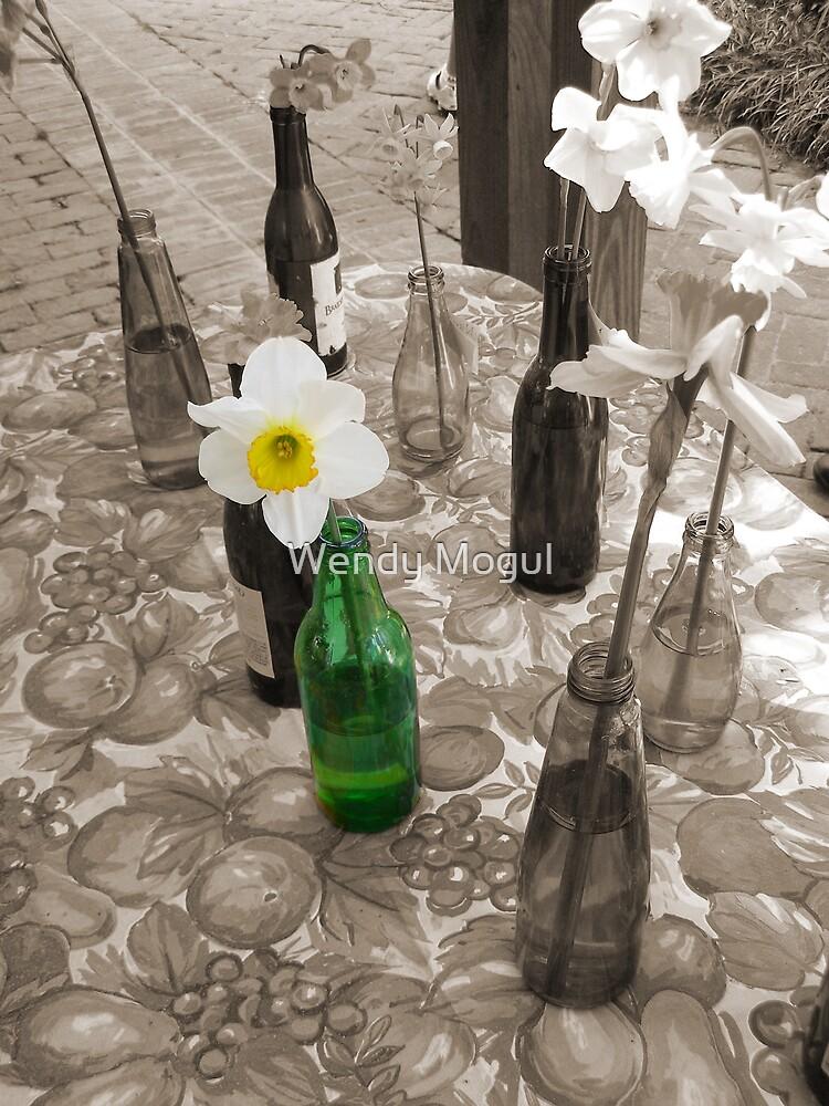 Bottles of Daffodils by Wendy Mogul